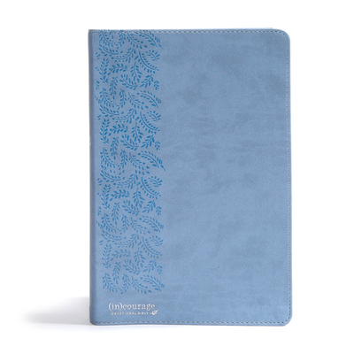 CSB (In)Courage Devotional Bible, Blue Leathertouch Indexed