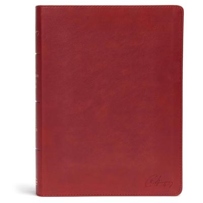 KJV Spurgeon Study Bible, Crimson Leathertouch