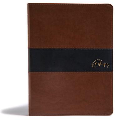 KJV Spurgeon Study Bible, Brown/Black Leathertouch