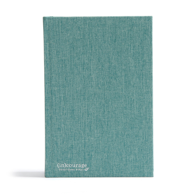 CSB (In)Courage Devotional Bible, Green Cloth Over Board Indexed