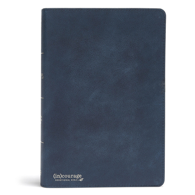 CSB (In)Courage Devotional Bible, Navy Genuine Leather