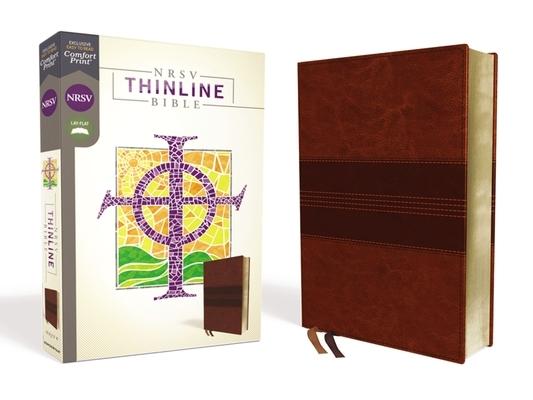 Nrsv, Thinline Bible, Leathersoft, Brown, Comfort Print