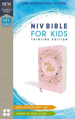 Niv, Bible for Kids, Flexcover, Pink/Gold, Red Letter Edition, Comfort Print