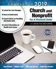 ZONDERVAN 2018 CURCH AND NON PROFIT TAX AND FINANCIAL GUIDE FOR 2017
