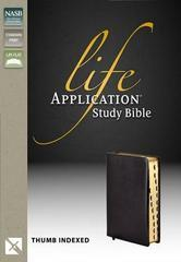 NASB LIFE APPLICATION STUDY BIBLE STANDARD PRINT BLACK INDEXED