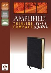 AMPLIFIED THINLINE COMPACT BIBLE SMALL PRINT BLACK