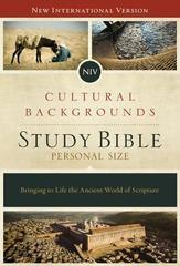 NIV CULTURAL BACKGROUNDS STUDY BIBLE PERSONAL SIZE