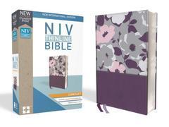 NIV THINLINE BIBLE COMPACT DARK ORCHID/GRAPE