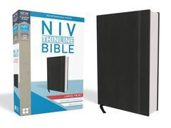 NIV THINLINE BIBLE LARGE PRINT BLACK