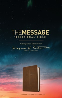 The Message Devotional Bible, Brown Cross