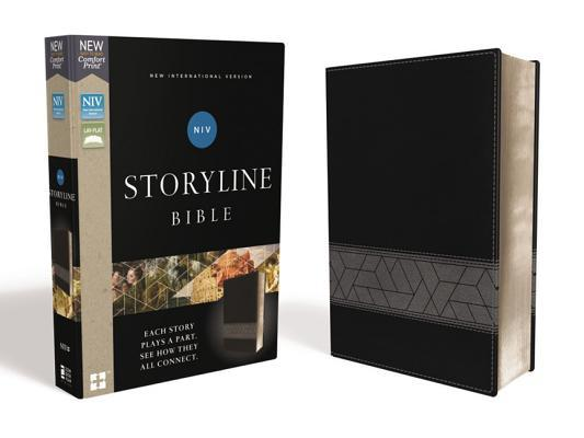 Niv, Storyline Bible, Leathersoft, Black, Comfort Print
