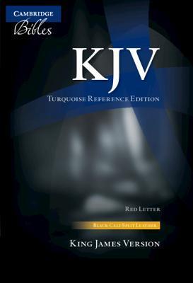 KJV Turquoise Reference Bible, Black Calf Split Leather, Red-Letter Text, Kj674: Xr