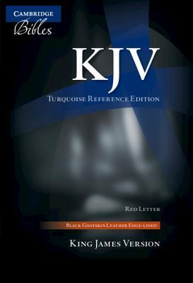 KJV Turquoise Reference Bible, Black Goatskin Leather, Red-Letter Text, Kj676: Xrl