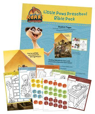 Little Paws Preschool Bible Play Pack (50 Sheets for 10 Kids)