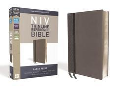 NIV Thinline Reference Bible Large Print Charcoal