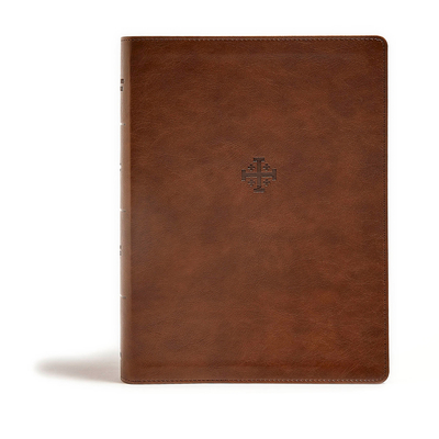 CSB Life Connections Study Bible, Brown Leathertouch