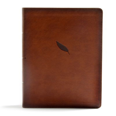 CSB Legacy Notetaking Bible, Tan Leathertouch