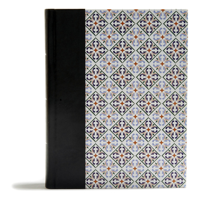 CSB Legacy Notetaking Bible, Spanish Tile Leathertouch-Over-Board