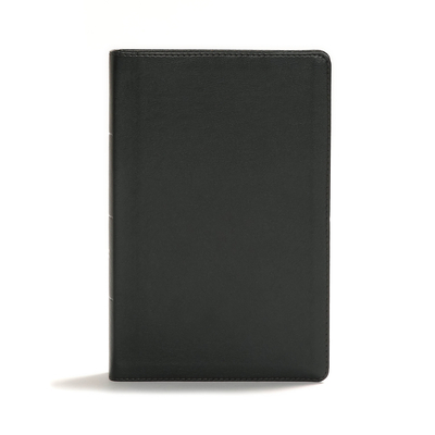 CSB Giant Print Center-Column Reference Bible, Black Leathertouch