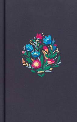CSB Personal Size Bible, Navy Floral Embroidered Cloth Over Board