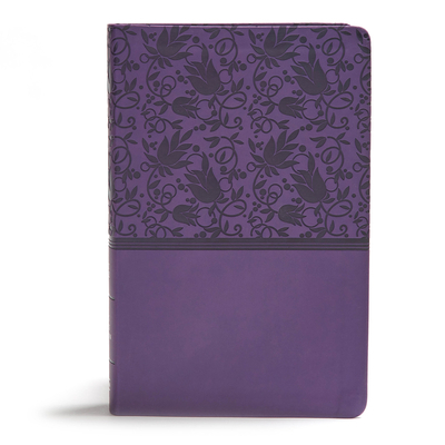 KJV Giant Print Reference Bible, Purple Leathertouch, Indexed