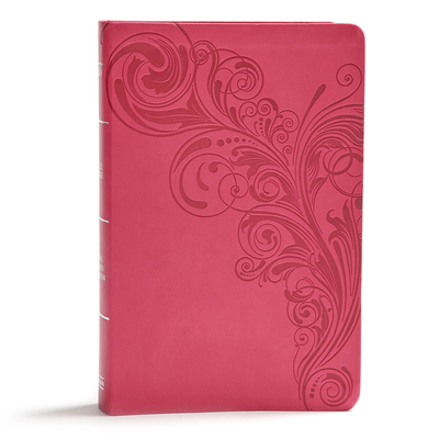 KJV Giant Print Reference Bible, Pink Leathertouch, Indexed
