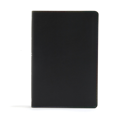 KJV Rainbow Study Bible, Black Leathertouch