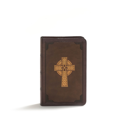 KJV Large Print Compact Reference Bible, Celtic Cross Brown Leathertouch