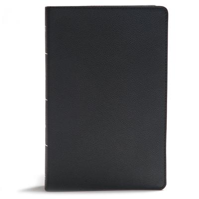 KJV Giant Print Reference Bible, Black Genuine Leather