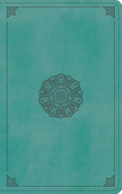 ESV Single Column Thinline Bible (Trutone, Turquoise, Emblem Design)