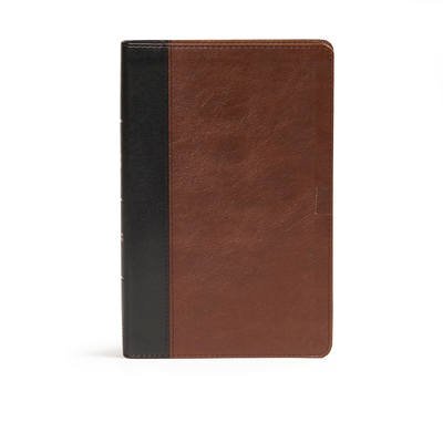 CSB Ultrathin Bible, Espresso/Black Leathertouch Indexed