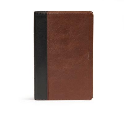 CSB Ultrathin Bible, Espresso/Black Leathertouch