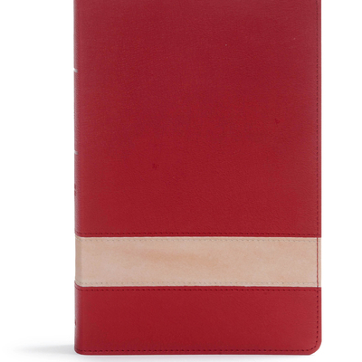 CSB Large Print Personal Size Reference Bible, Crimson/Tan Leathertouch, Indexed