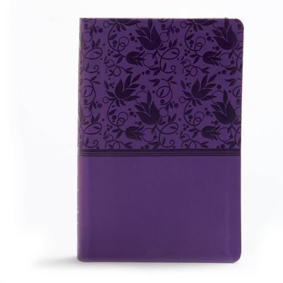 KJV Large Print Personal Size Reference Bible, Purple Leathertouch