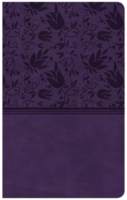 CSB Compact Ultrathin Reference Bible, Purple Leathertouch, Indexed