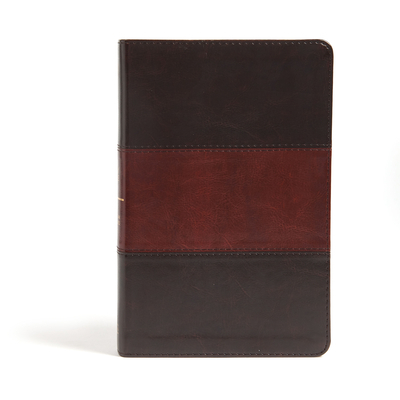 CSB Large Print Personal Size Reference Bible, Classic Mahogany Leathertouch