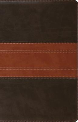 ESV Large Print Thinline Reference Bible (Trutone, Forest/Tan, Trail Design)