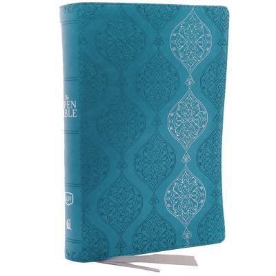 The Kjv, Open Bible, Leathersoft, Blue, Red Letter Edition, Comfort Print