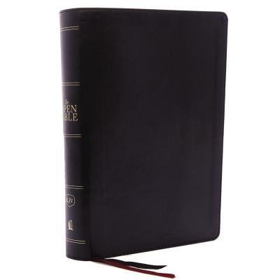 The Kjv, Open Bible, Leathersoft, Black, Red Letter Edition, Comfort Print