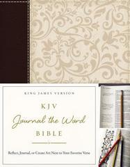 KJV Journal the Word Bible Brown/Cream Linen