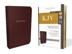 KJV Super Giant Print Reference Bible Burgundy Thumb Index