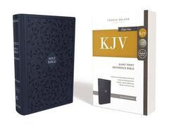 KJV Giant Print Reference Bible Navy Cloth Over Board