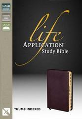 NASB Life Application Study Bible Burgundy