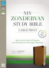 NIV Zondervan Study Bible Large Print Indexed Chocolate/Caramel