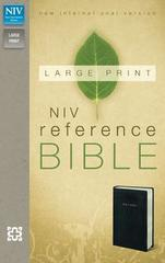 NIV Reference Bible Large Print Black