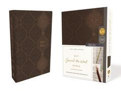 KJV Journal the Word Bible Comfort Print Brown