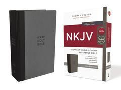 NKJV Compact Single-Column Reference Bibel Charcoal Comfort Print