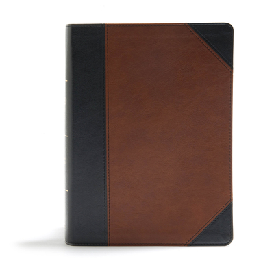 CSB Study Bible, Black/Brown Leathertouch