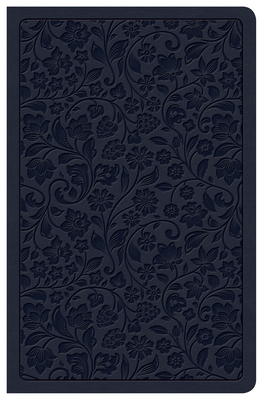 CSB Ultrathin Reference Bible, Navy Leathertouch, Deluxe Edition