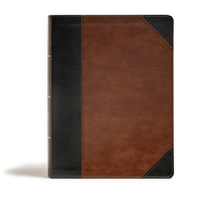 CSB Tony Evans Study Bible, Black/Brown Leathertouch, Indexed